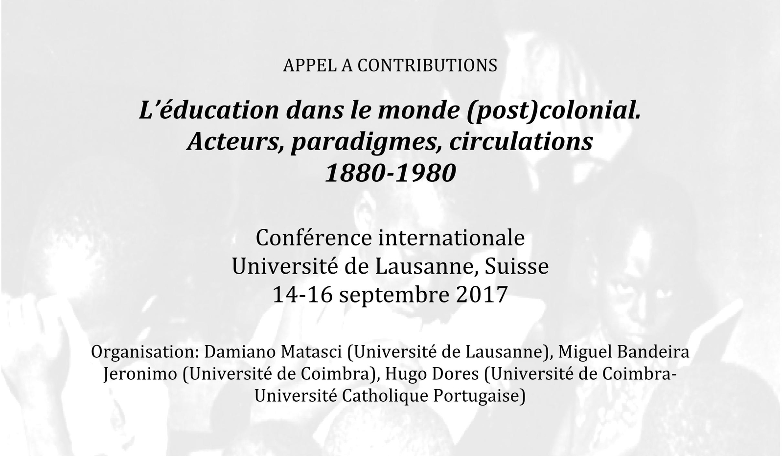 appel  u00e0 contribution pour le colloque international  u0026quot l